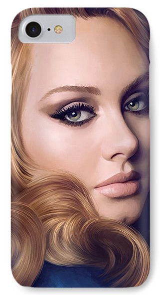 Adele Artwork  IPhone Case by Sheraz A