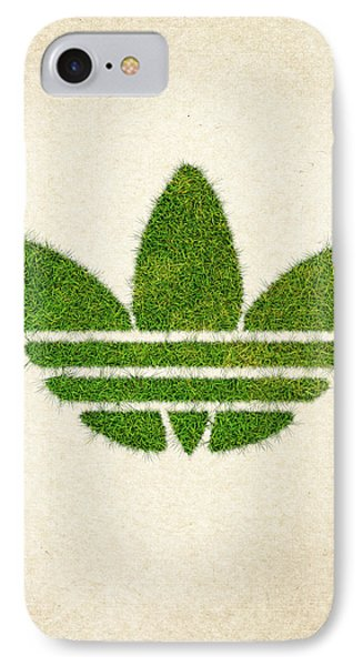Adidas Grass Logo IPhone Case by Aged Pixel