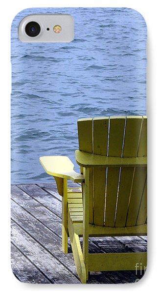 Adirondack Chair On Dock Phone Case by Olivier Le Queinec
