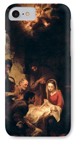 Adoration Of The Shepherds IPhone Case by Bartolome Esteban Murillo