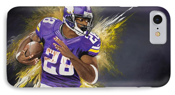 Adrian Peterson Phone Case by Don Medina