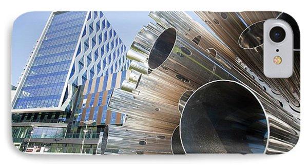 Aeolus Acoustic Wind Pavilion Sculpture IPhone Case by Ashley Cooper