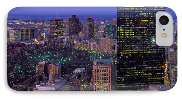 Aerial View Of A City, Boston, Suffolk IPhone Case by Panoramic Images
