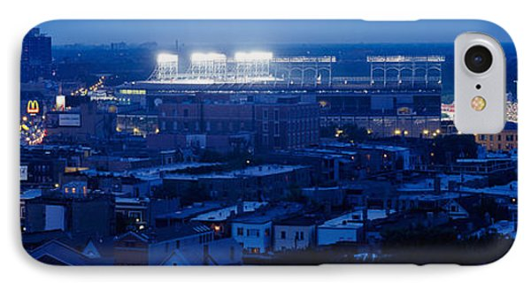 Aerial View Of A City, Wrigley Field IPhone Case by Panoramic Images