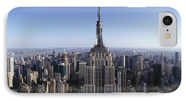 Aerial View Of A Cityscape, Empire IPhone 7 Case by Panoramic Images