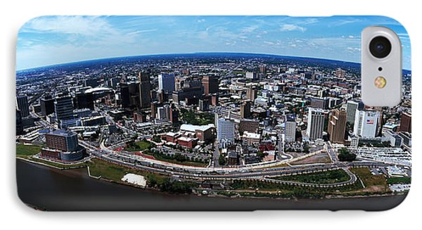 Aerial View Of A Cityscape, Newark IPhone Case by Panoramic Images
