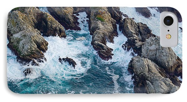 Aerial View Of A Coast, Point Lobos IPhone Case by Panoramic Images