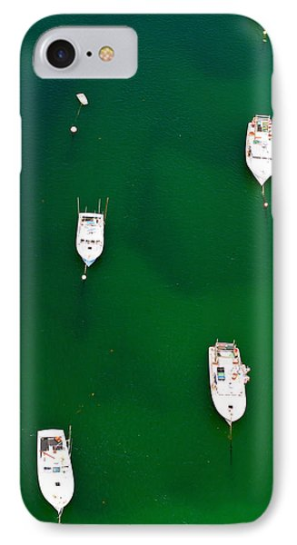 Aerial View Of Boats In The Sea, Cape IPhone Case by Panoramic Images