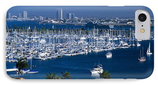 Aerial View Of Boats Moored IPhone Case by Panoramic Images