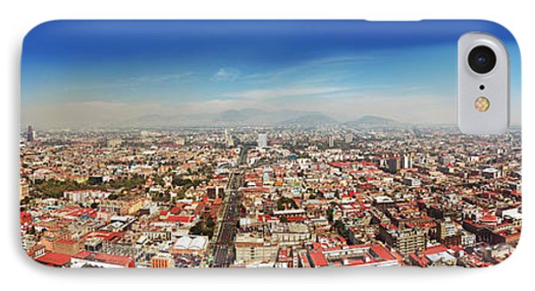 Aerial View Of Cityscape, Mexico City IPhone Case by Panoramic Images