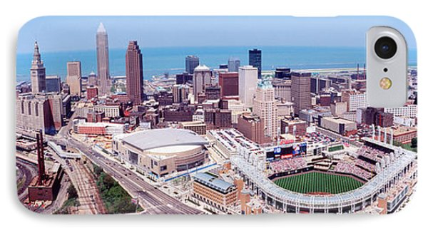 Aerial View Of Jacobs Field, Cleveland IPhone 7 Case by Panoramic Images