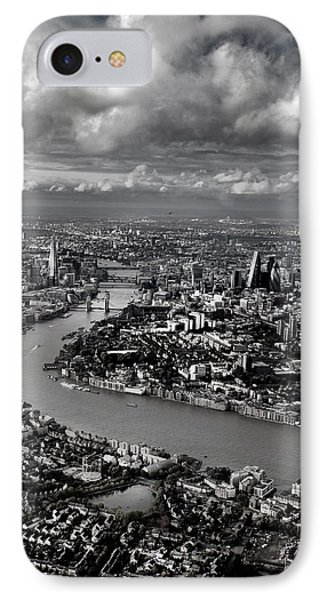 Aerial View Of London 4 IPhone Case by Mark Rogan