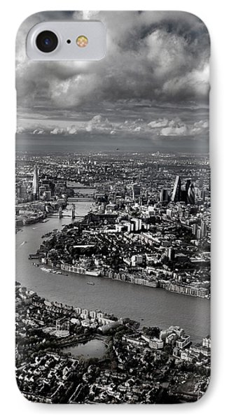 Aerial View Of London 4 IPhone 7 Case by Mark Rogan