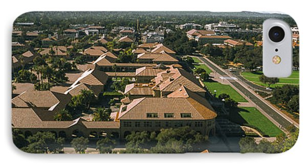 Aerial View Of Stanford University IPhone 7 Case by Panoramic Images