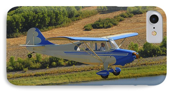 Aeronca 7ac Champion Aircraft Flying IPhone Case by Phil Wallick