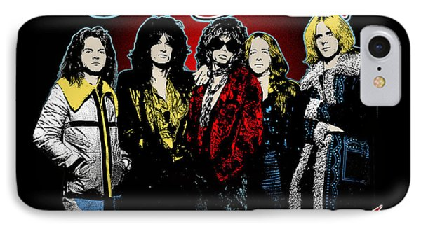 Aerosmith - 1970s Bad Boys IPhone 7 Case by Epic Rights
