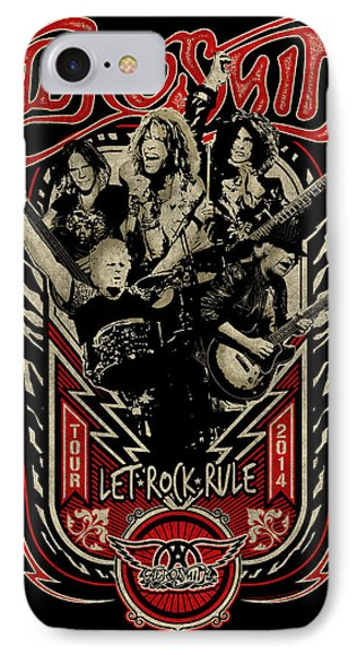 Aerosmith - Let Rock Rule World Tour IPhone 7 Case by Epic Rights