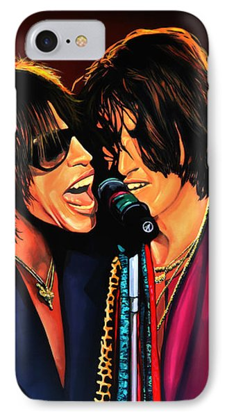 Aerosmith Toxic Twins Painting IPhone 7 Case by Paul Meijering