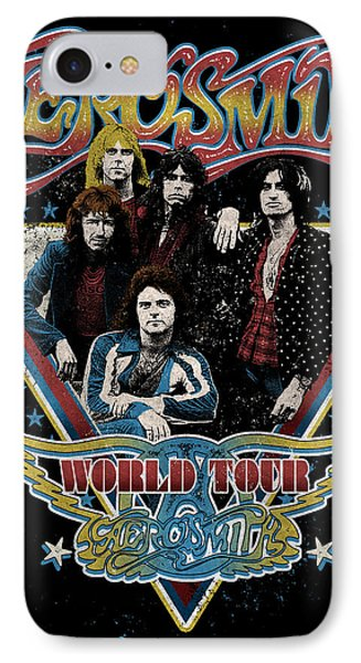 Aerosmith - World Tour 1977 IPhone 7 Case by Epic Rights