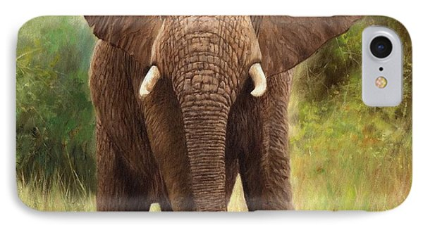 African Elephant IPhone Case by David Stribbling