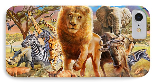 African Stampede IPhone Case by Adrian Chesterman