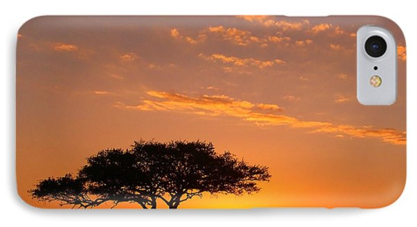 African Sunset Phone Case by Sebastian Musial