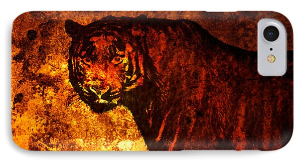 African Tiger  IPhone Case by Toppart Sweden