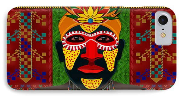 African Tribesman 1 IPhone Case by Bedros Awak