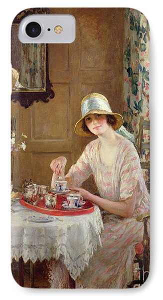 Afternoon Tea IPhone Case by William Henry Margetson