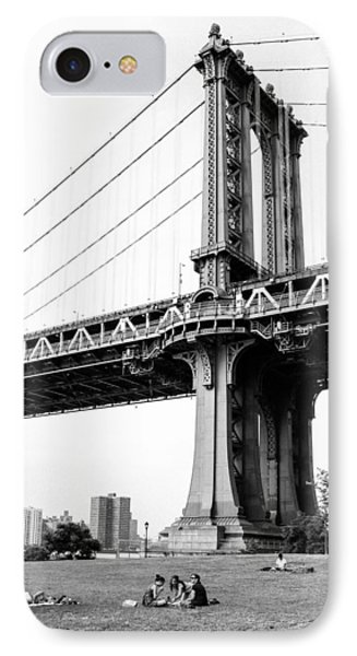 Afternoon Under The Manhattan Bridge - Brooklyn Bridge Park Phone Case by Gary Heller