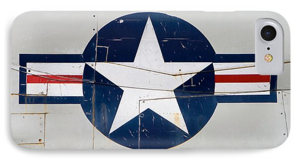 Air Force Logo On Vintage War Plane IPhone Case by Stephanie McDowell