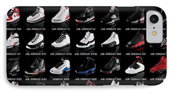 Air Jordan Shoe Gallery IPhone 7 Case by Brian Reaves