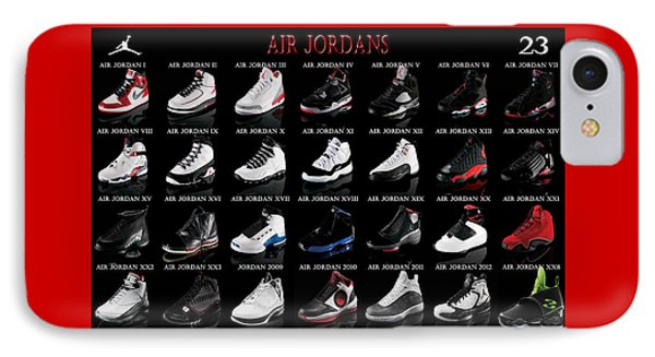 Air Jordan Shoe Gallery IPhone Case by Brian Reaves