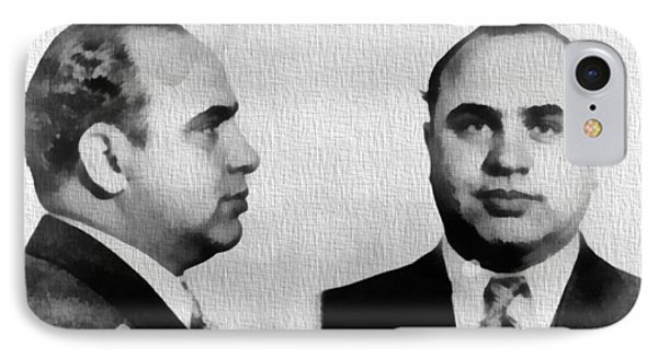 Al Capone Mug Shot IPhone Case by Dan Sproul