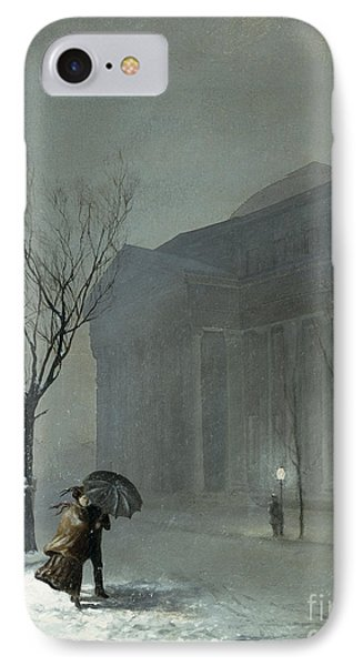 Albany In The Snow IPhone Case by Walter Launt Palmer