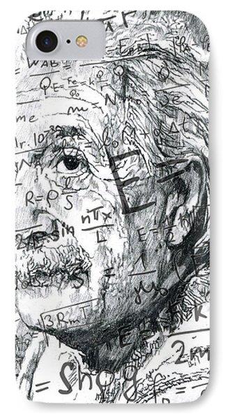 Albert Einstein Phone Case by Kyle Willis