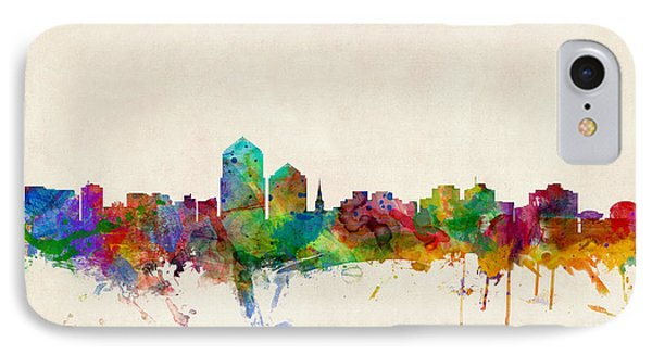 Albuquerque New Mexico Skyline IPhone Case by Michael Tompsett