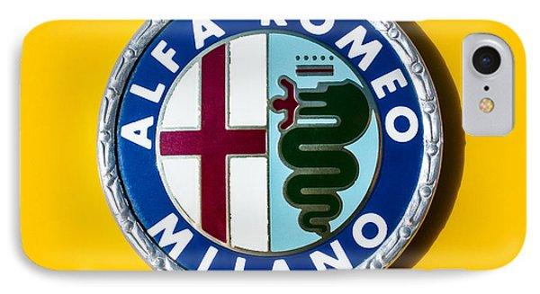 Alfa Romeo Emblem Phone Case by Jill Reger
