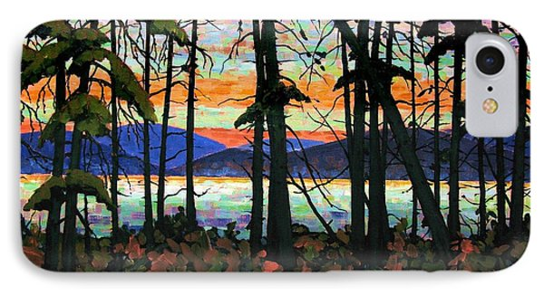Algoma Sunset Acrylic On Canvas IPhone Case by Michael Swanson