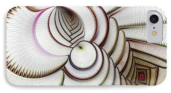 Algorithmic Art IPhone Case by Anastasiya Malakhova
