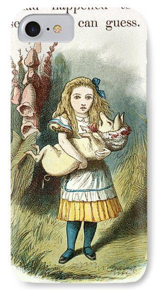 Alice And The Pig-baby IPhone Case by British Library