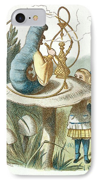 Alice Meets The Blue Caterpillar IPhone Case by British Library