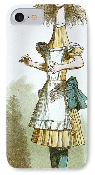 Alice With A Long Neck IPhone Case by British Library