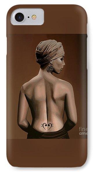 Alicia Keys  IPhone 7 Case by Paul Meijering