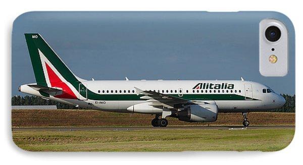 Alitalia Airbus A319 Phone Case by Paul Fearn