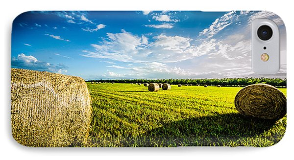 All American Hay Bales Phone Case by David Morefield