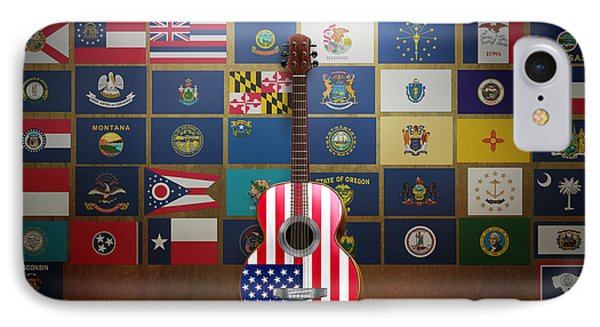 All State Flags Phone Case by Bedros Awak