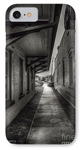Alley To The Trains IPhone Case by Marvin Spates