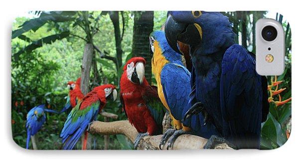 Aloha Kaua Aloha Mai No Aloha Aku Beautiful Macaw Phone Case by Sharon Mau
