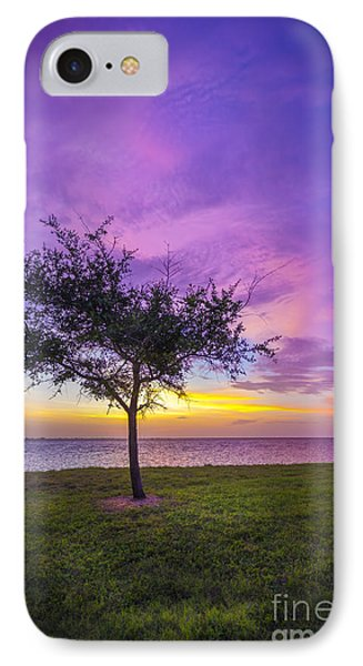 Alone At Sunset IPhone Case by Marvin Spates
